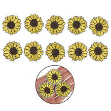 10pc Yellow Sunflower Patches Iron on Patch Embroidered Applique Sewing Cra-S1