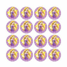 16x EDIBLE Rapunzel Tangled Birthday Wafer Paper 4cm (uncut)