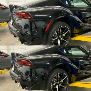 Toyota Supra GR Rear Bumper Side Reflector Tint Pre-Cut Overlay SMOKE