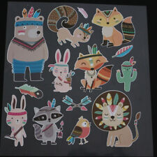 DIY Heat Transfer Stickers Cartoon Animal Patches Iron On Appliques Printing