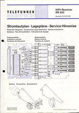 Telefunken Service Schaltplan für RR 200