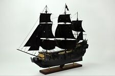 "Black Pearl Pirate Tall Ship Handmade Wooden Ship Model 42"" with lights"