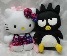 Sanrio Hello Kitty Cat Backpack Bad Badtz Hamburg GERMANY TAG Plush Stuffed Pink