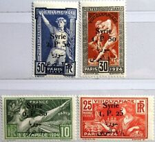 SYRIA SYRIEN 1924 254-57 166-69 Summer Olympics Paris ovp Olympia Statue MNH