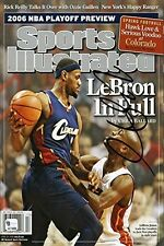 LeBron James Sports Illustrated Auto Replic Poster LeBron in Full Cleveland Cavs