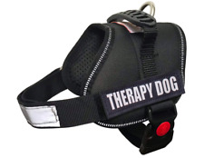 ALBCORP Reflective Therapy Dog Vest Harness w/Removable Patches Sz XXS - Black