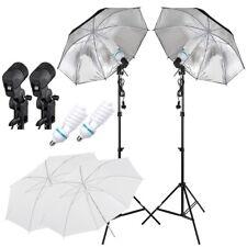 Photography Studio Lighting Kit Umbrella Reflector Flash Light Stand Mount Set