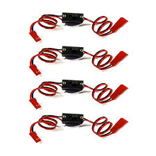 4x An/Aus Schalter Schalterkabel Powerschalter Lipo 2x JST Stecker BEC on/off RC