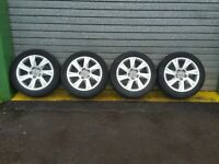 "AUDI A6 C6 4F 2006 - SET OF 17"" INCH ALLOY WHEELS 8T0601025C 225/50R17"
