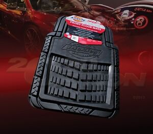 DICKIES ALL WEATHER WATER PROOF 2PCS FRONT FLOOR MATS BLACK FOR FORD TRUCK & VAN