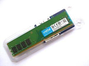 NEW DESKTOP RAM - CRUCIAL 8GB | DDR4 | PC4-2666 | PC4-21300U | 288PIN | NON ECC