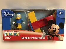 Brio 32233 Donald Duck & Airplane Wooden Train Tracks Mickey Mouse Disney Thomas