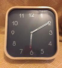 Ikea Sweden Designer Johanna Jelinek Wall Clock Retro Square Bent Wood Scandi GC