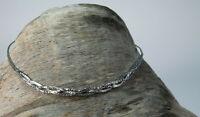 hübsche Vintage Kette Collier 800 Silber Halskette 60er 70er Flecht Zopfkette