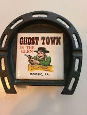 Ghost Town in the Glen Amusement Park  Moosic PA souvenir dish trivet metal