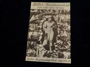 1956 Better Buymanship Week Program of Events w/ Edgar Guest Flint Michigan  J6