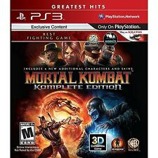 Mortal Kombat: Komplete Edition [PlayStation 3 PS3, Greatest Hits, Fighting] NEW