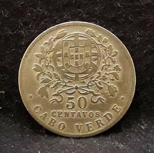 1930 Portuguese Cape (Cabo) Verde 50 centavos, 1-year type, KM-4