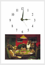 DOGS PLAYING POKER Wall Clock Personalised free of charge