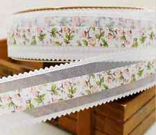 1m ribbon lace crafts Gift Wrapping decoration sewing quilting white organza NEW