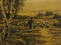 Nach Albert Charles WALLET (1852-1918) alte Litho: SCHÄFER & HERDE AM BIRKENWALD
