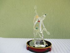 "1999 Swarovski Crystal Masquerade Figure Pierrot 8"" Perfect Certificate ""Mint"""