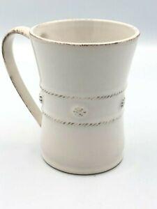 "Juliska Berry And Thread Rustic White Coffee Mug/Cup Farmhouse 4.5"""