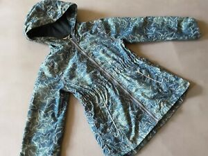 Topolino Sommer Herbst Jacke 122 128 wie NEU Mädchen Parka Schmetterling blau