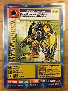 DIGIMON ST-84 WarGreymon Swedish Promo Card TCG Rare LP/Played