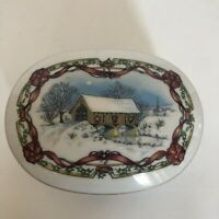 Music Box Heritage House VTG 1991 Melodies Of Christmas O Come All Ye Faithful