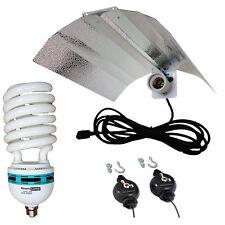 CFL Wing Reflector + 85w 6400k Lamp Hydroponics Light grow tent E27 not E40/HPS