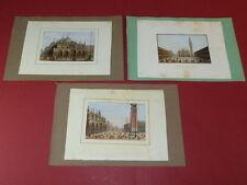 3x Grafik Italien Venedig Stahlstich Markusplatz Dogenpalast ~ 1850 Stammbuch