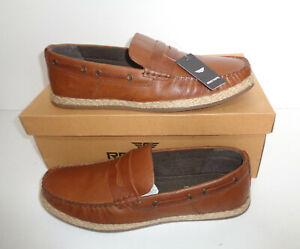 Mens Leather Slip On Loafers Casual Moccasin Boat Deck Driving Shoes New UK Size