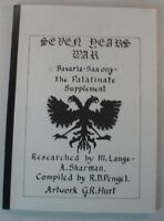 R.D.Pengel G.R.Hurt Seven Years WAR Bavaria Saxony the Palatinate suppleme B8413