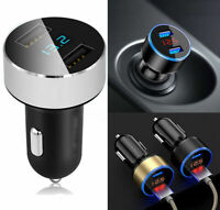 5V/3.1A Dual USB Port Car Charger Quick Charge Adapter LED for iPhone Samsung/LG