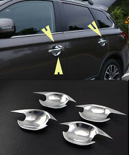 Chrome Side Door Handle Bowl Cover Trim for 2016-2017 Mitsubishi Outlander