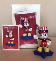 EUC HALLMARK Keepsake TRUE PATRIOT Mickey Mouse Disney Ornament USA Patriot 2005