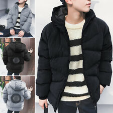 Men Winter Warm Hooded Thicken Outerwear Quilted Jacket Coat Parka Plus Size 3XL