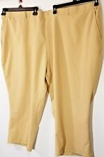 Habands Fit Forever Mens Dress Pants 60S Beige Plaid Trouser Stretch waistband