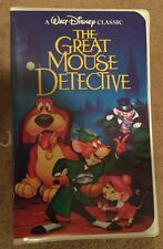 Extremely Rare Walt Disney's Black Diamond Classic The Great Mouse Detective VHS