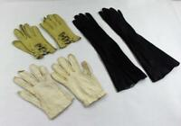 Vintage Lot 3 Pair of Women's Leather Gloves