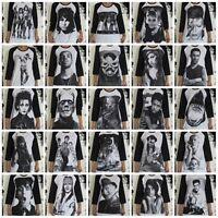Unisex Raglan T-Shirt Mens Womens Ladies