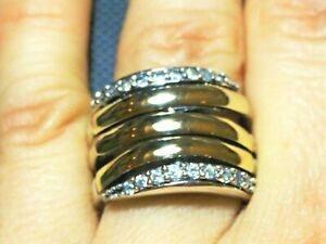 Sterling Silver and  Gold  Ring ,SAME DAY SHIPPING !!!