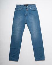 Kiton NWT Blue Slim Fit Lightweight Cotton Selvedge Denim Jeans 33