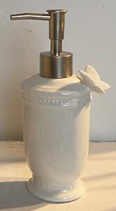 Clayre & Eef Seifenspender Badezimmer Keramik Shabby Vintage Nostalgie 19x9x7 cm