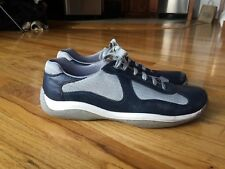 Vintage PRADA Mens Sneakers Blue Sz UK 11 US 12