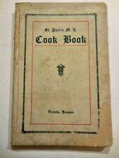 1920s St. Paul's  M.E. Church Cookbook, Wichita, Kansas ~ Methodist Episcopal