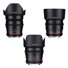 Rokinon Cine DS T1.5 Cine Lens Kit for Nikon - 24mm + 50mm + 85mm