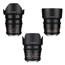 Rokinon Cine DS T1.5 Cine Lens Kit for Sony Alpha E Mount - 24mm + 50mm + 85mm