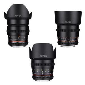 Rokinon Cine DS T1.5 Cine Lens Kit for Nikon - 24mm + 50mm + 85mm